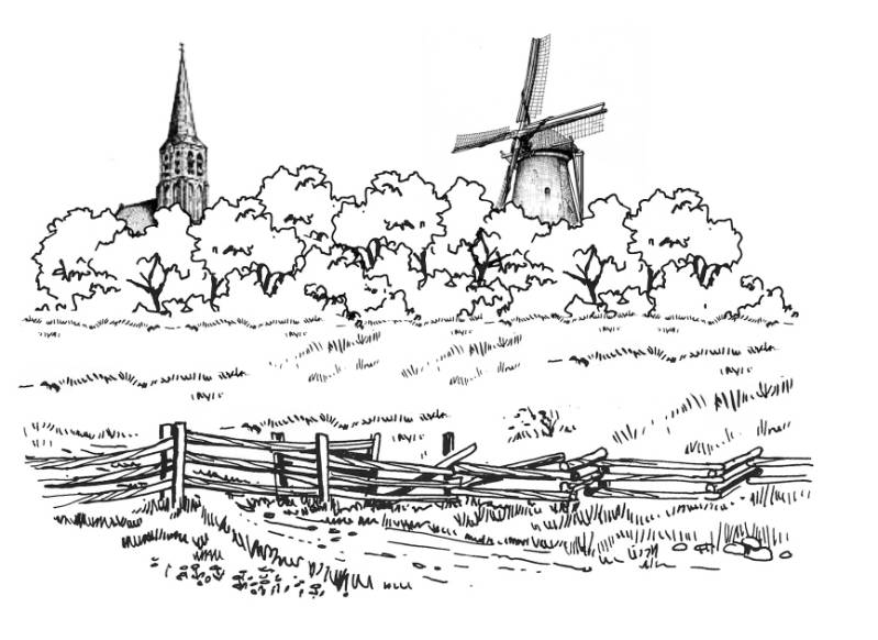 SW R15001/179 Landscape with windmill