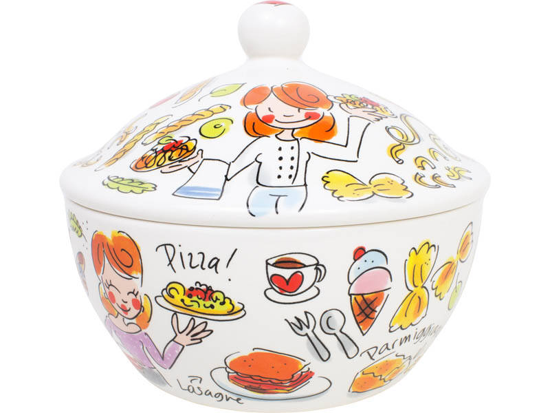 Blond Amsterdam Pasta Bowl With Lid  200355