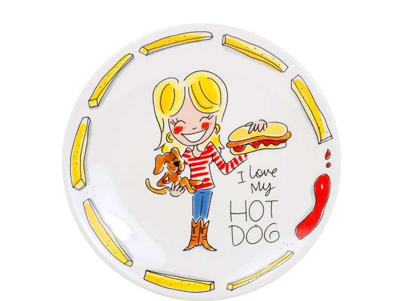 Blond Amsterdam SNACK PLATE 22 CM HOT DOG  200563