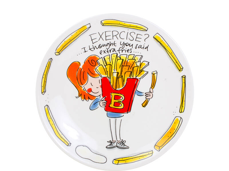 Blond Amsterdam SNACK PLATE 22 CM EXERCISE