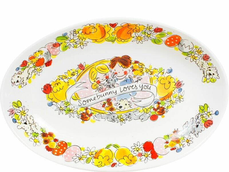 Blond Amsterdam Ovale schaal EASTER: OVAL BOWL 28,5 cm   200866