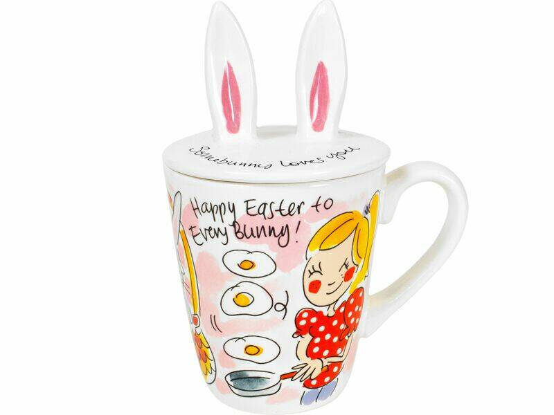 Blond beker HAPPY EASTER: 3D MUG BUNNY  201077