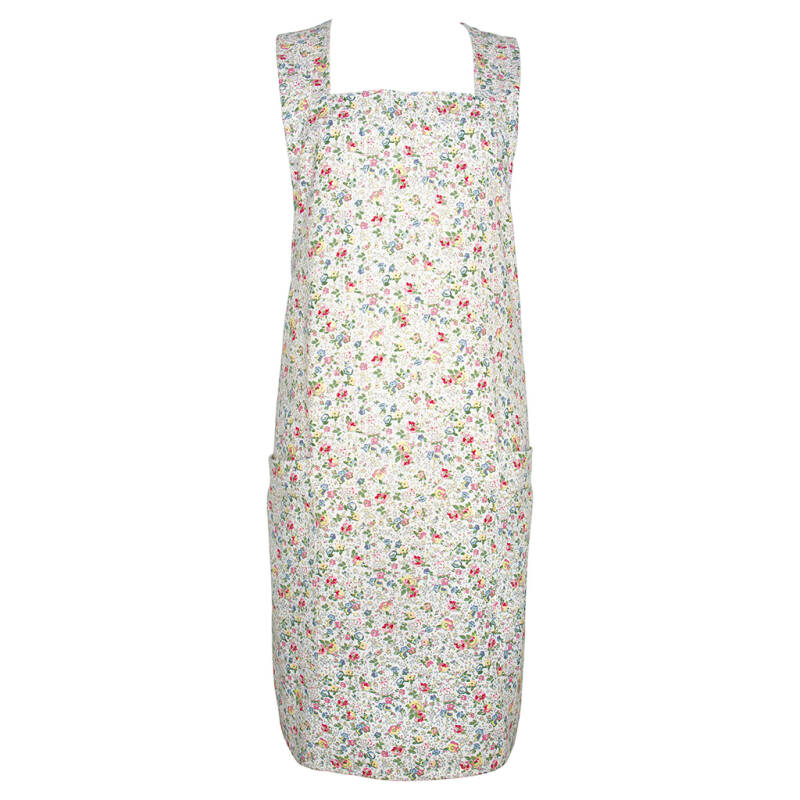 GreenGate 2 Pockets Apron Vivianne White