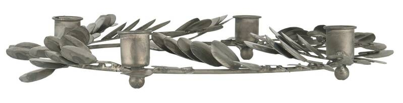 Ib-Laursen Advent candle holder f/4 dinner candles w/ leaves  57094-18