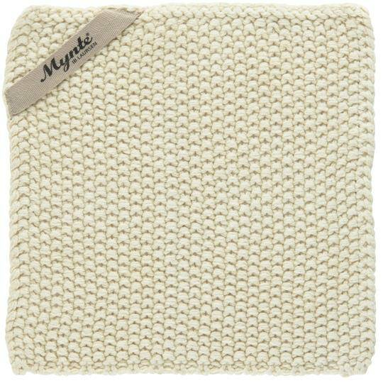 IB-Laursen Pot holder Mynte Latte knitted  6350-01