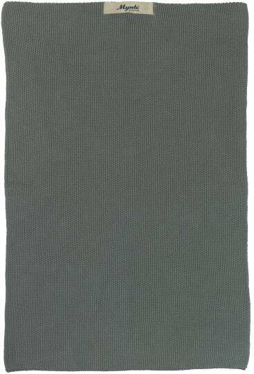IB-Laursen Towel Mynte moss green knitted  6352-41