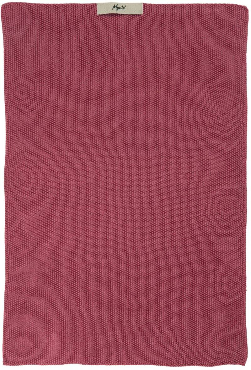 IB-Laursen Towel Mynte Blackberry Parfait knitted