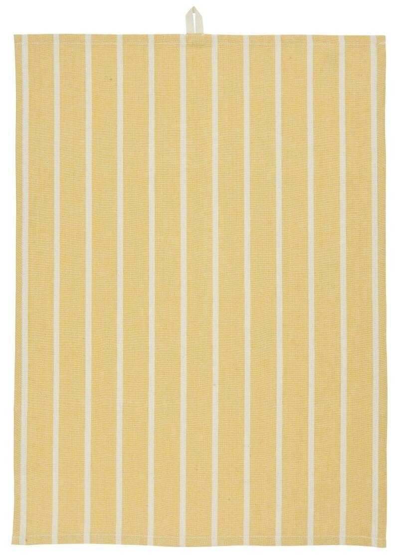 IB-Laursen Tea towel yellow w/stripes