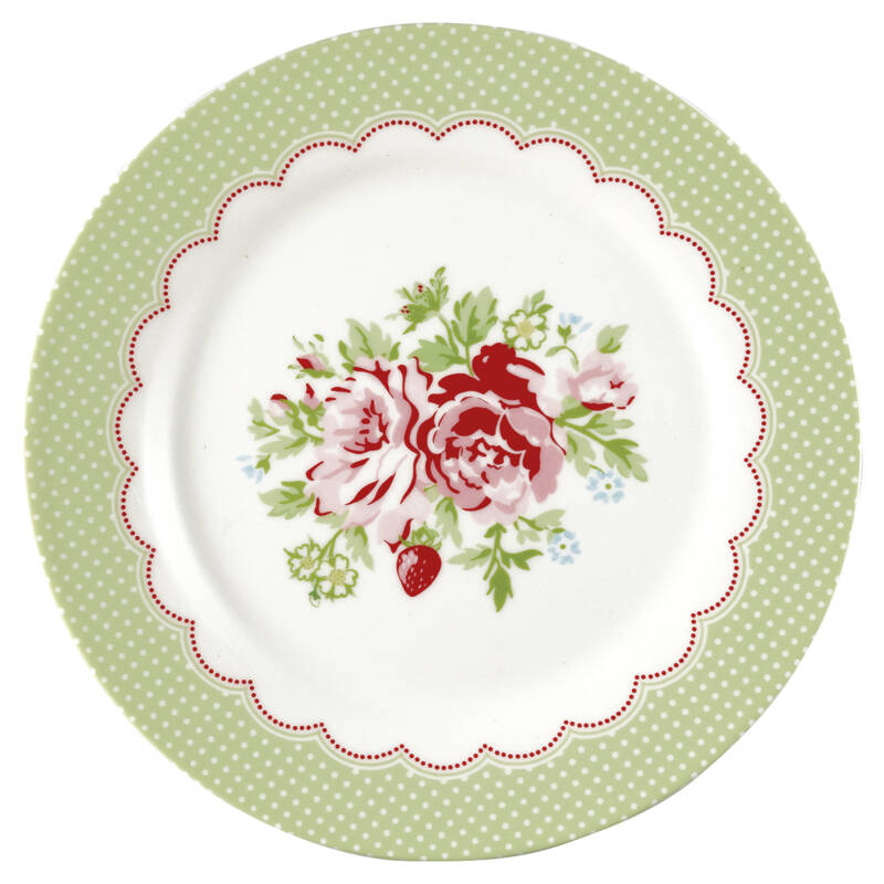 GreenGate Plate 20 cm Mary White