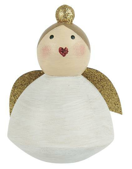 Ib-Laursen Angel w/glitter mouth standing hand painted    92050-00