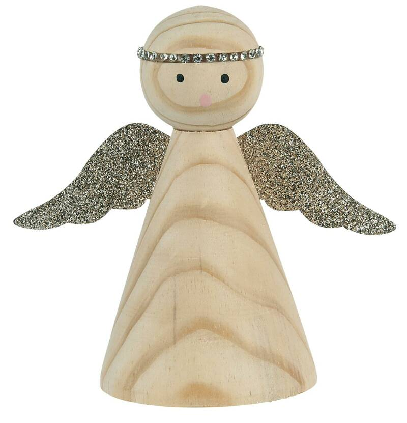 Ib-Laursen Angel standing w/glitter wings hand painted