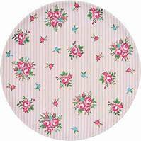 GreenGate Bamboo Plate 20 cm Constance White