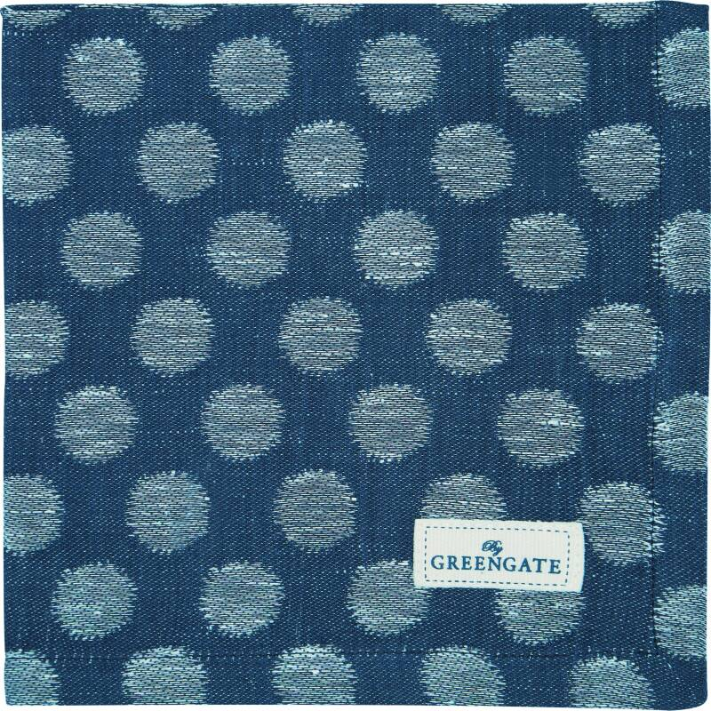 GreenGate Cloth Napkin Jacquard Savannah Blue