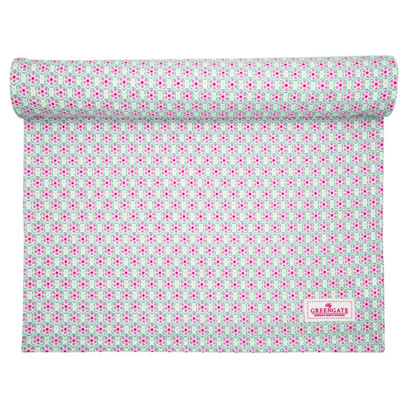 GreenGate Table Runner Leah Pale Pink