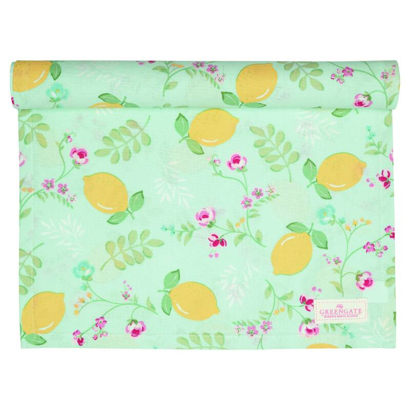 GreenGate Table Runner Limona Pale Blue