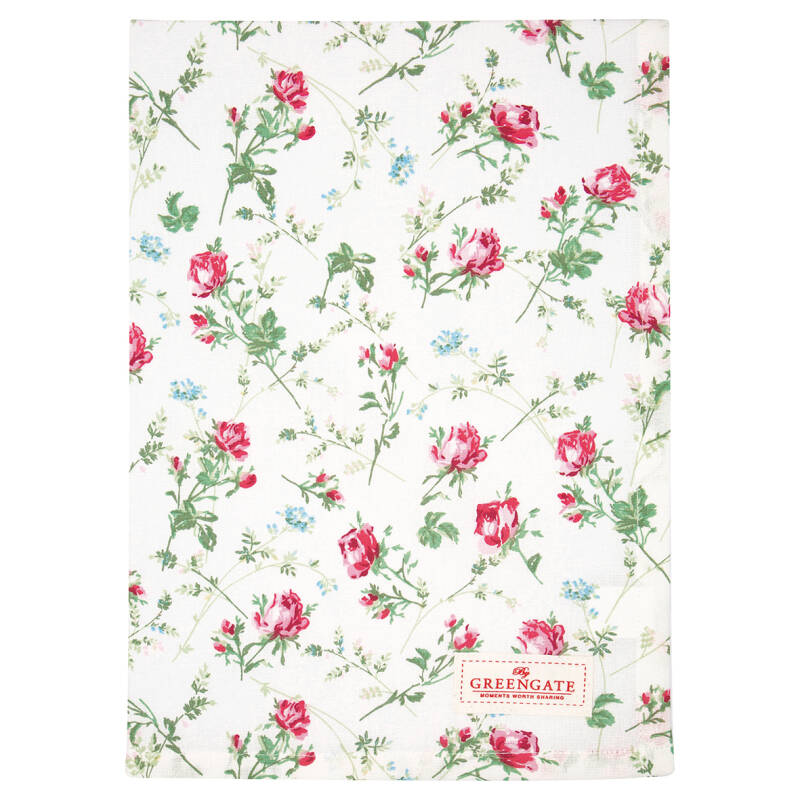 GreenGate Tea Towel Constance White