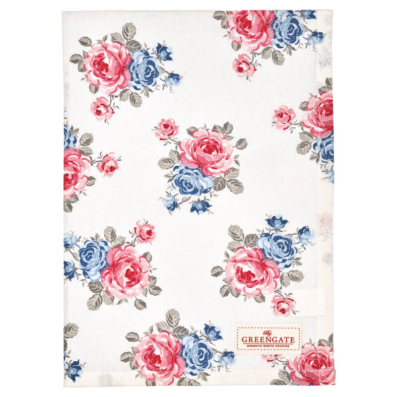 GreenGate Tea Towel Hailey White