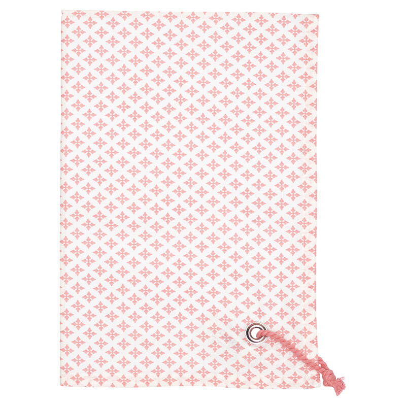 GreenGate Tea Towel Sasha Peach with Rope String