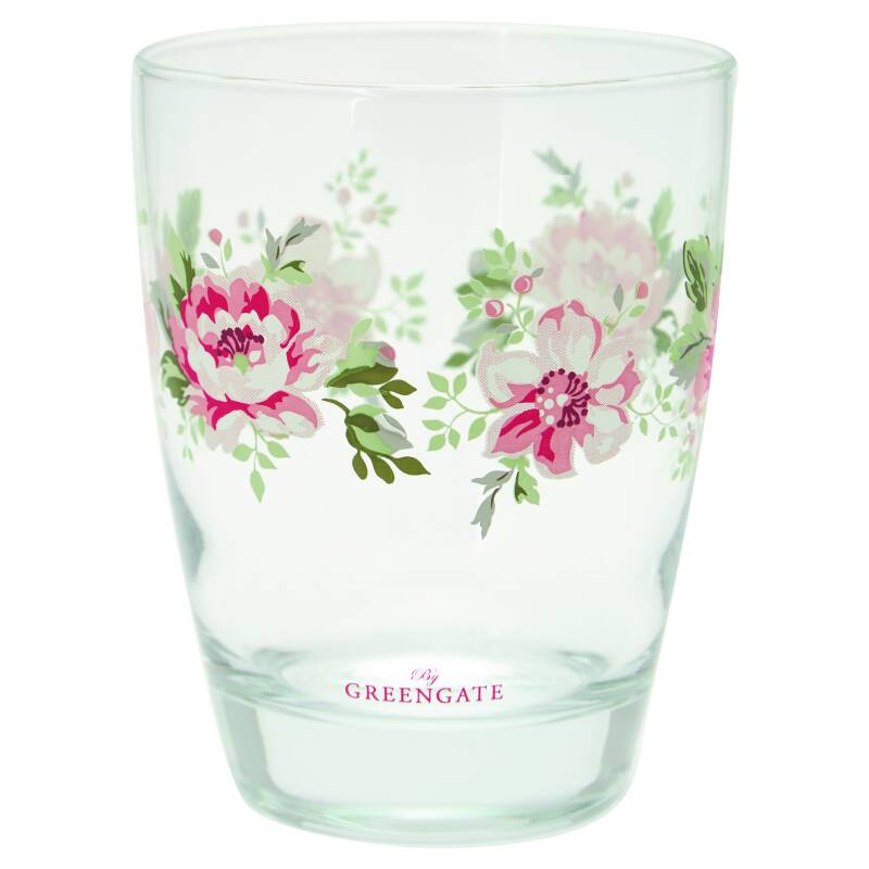 GreenGate Water Glass Elouise White