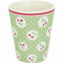 GreenGate Bamboo Cup Cherry Berry Pale Green