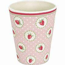 GreenGate Bamboo Cup Strawberry Pale Pink