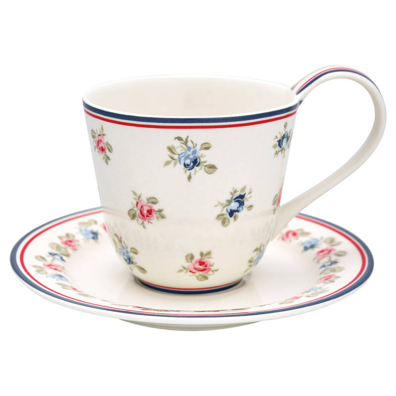 GreenGate Cup & Saucer Hailey White
