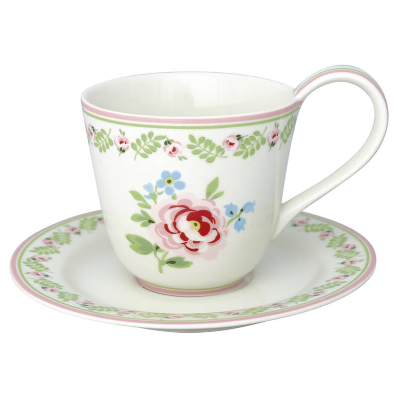 GreenGate Cup & Saucer Lily Petit White
