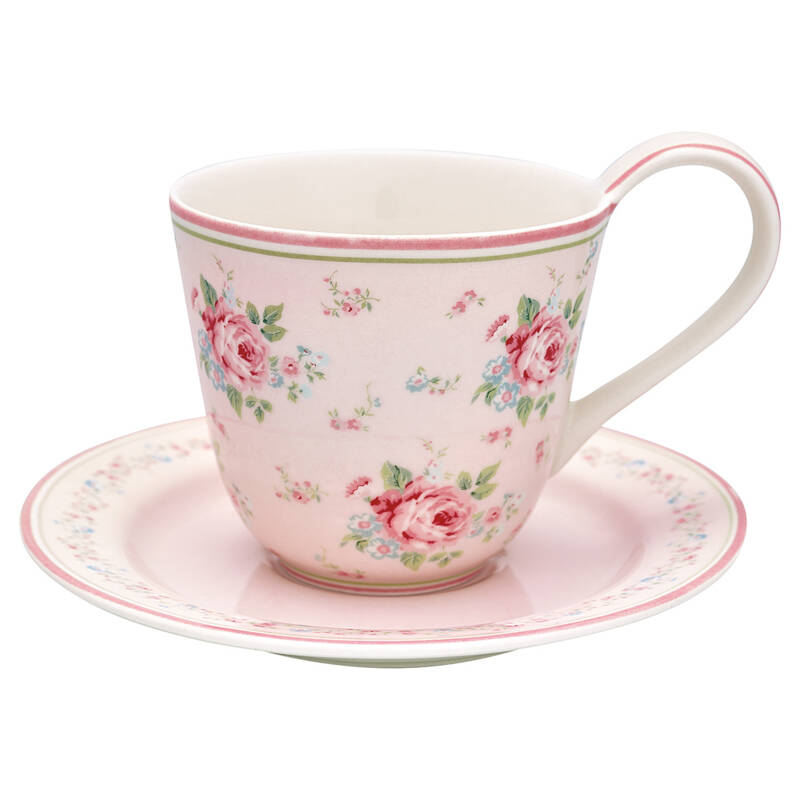 GreenGate Cup & Saucer Marley Pale Pink