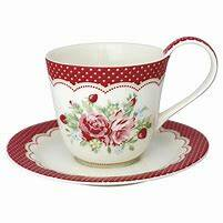 GreenGate Cup & Saucer Mary White