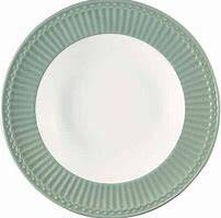 GreenGate Deep  Plate Alice Dusty Green H 3.90cm D 21.5 cm