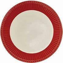 GreenGate Deep Plate Alice Red 21.5 cm