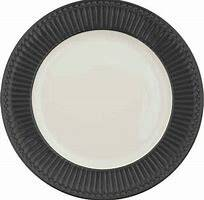 GreenGate Dinner Plate Alice Dark Grey 26.5 cm
