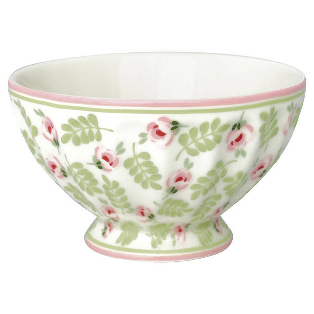 GreenGate French Bowl Medium Lily Petit White
