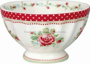 GreenGate French Bowl Medium Mary Raspberry