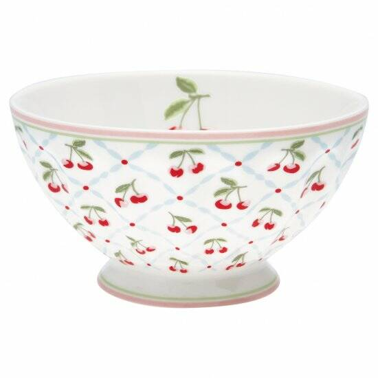 GreenGate French Bowl XLarge Cherie White