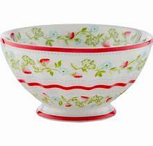 GreenGate French Bowl XLarge Gloria White - Limited Edition