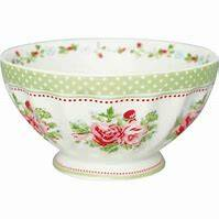 GreenGate French Bowl XLarge Mary White