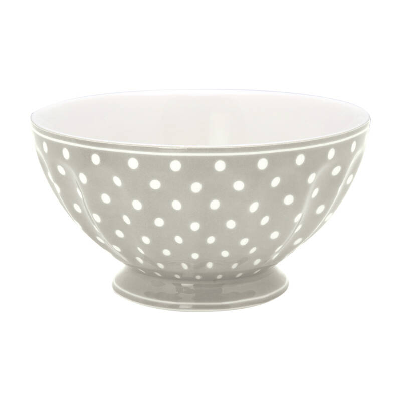 GreenGate French Bowl XLarge Spot Grey