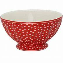 GreenGate French Bowl XLarge Spot Red