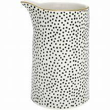 GreenGate Jug Dot Black with Gold 1 liter