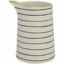 GreenGate Jug Sally Black with Gold 0.5 liters