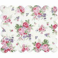 GreenGate Placemat Curved Edge Rose White