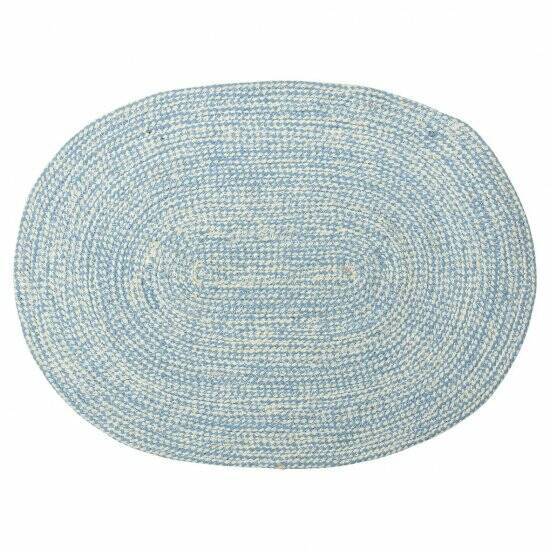 GreenGate Placemat Oval Pale Blue