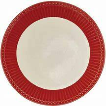 GreenGate Plate Small Alice Red 17.5 cm