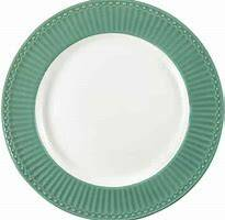 GreenGate Plate Small Alice dusty green Diameter 17.5 cm