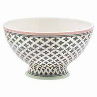GreenGate Stoneware Soup Bowl Sasha Dark Grey