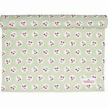 GreenGate Table Runner Cherry Berry Pale Green 45 x 140 cm