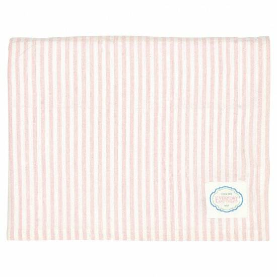 GreenGate Tablecloth Alice Stripe Pale Pink 250 x 145 cm