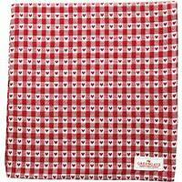 GreenGate Tablecloth Heart Petit Red 145 x 250 cm