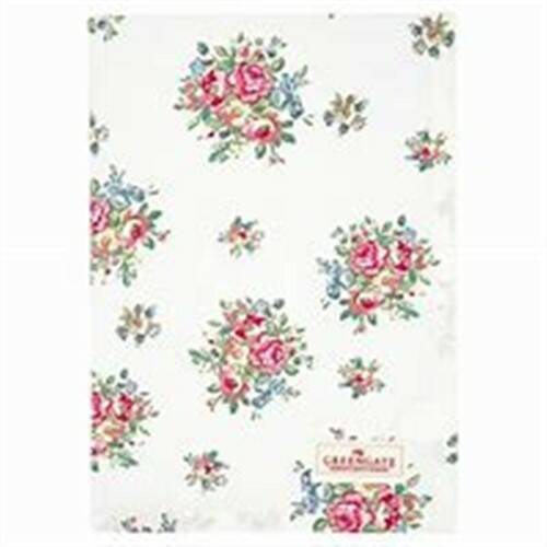 GreenGate Tea Towel Franka White